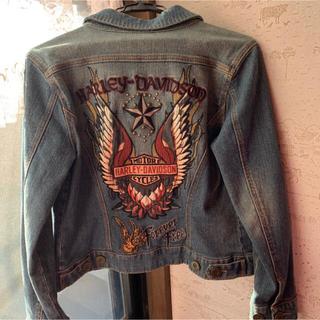 ハーレーダビッドソン(Harley Davidson)の美品★ハーレーダビッドソン レディースデニムジャケット Gジャン(Gジャン/デニムジャケット)