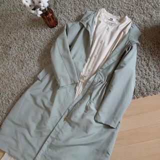 ジーユー(GU)のひろ様専用GU スプリングパーカー スプリングコート ロングジャケット(スプリングコート)