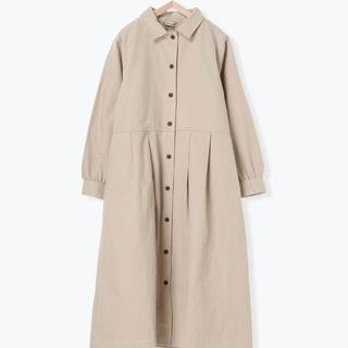 SM2 - ライナー付綿麻ツイルタックコート ベージュ