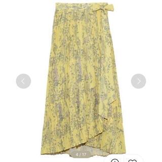 ミラオーウェン(Mila Owen)の切り替えフレアワッシャー巻きスカート(ロングスカート)