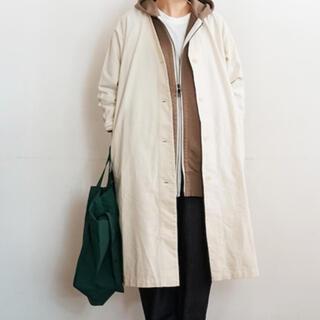 ムジルシリョウヒン(MUJI (無印良品))の無印良品 コットンカポックコート 婦人M~L・生成(スプリングコート)