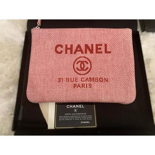 CHANEL - 美品 CHANEL キャンバスクラッチバッグ ポーチ