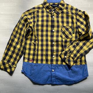 クレードスコープ(kladskap)のクレードスコープ 120 黄色チェック長袖シャツ(ブラウス)