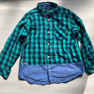 クレードスコープ(kladskap)のクレードスコープ 120 グリーンチェック長袖シャツ(ブラウス)