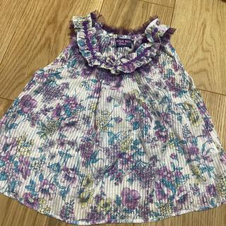 アナスイミニ(ANNA SUI mini)のアナスイミニ♡タンク型 花柄トップス SS(Tシャツ/カットソー)