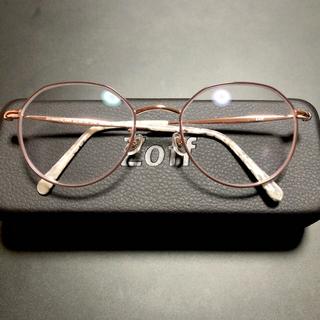 Zoff - 【美品】Zoff 眼鏡 度入り おしゃれ かわいい ユニセックス 韓国風 金属