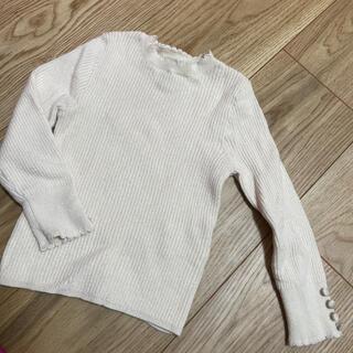 プティマイン(petit main)のプティマイン♡くるみボタン付き ニット 90(Tシャツ/カットソー)