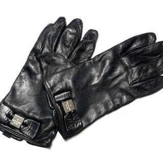 ケイトスペードニューヨーク(kate spade new york)のケイトスペード 手袋 レディース - 黒(手袋)