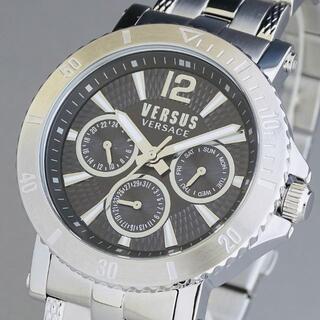 ヴェルサーチ(VERSACE)の【新品即納】ヴェルサス ヴェルサーチ 日本未発売 メンズ腕時計 クロノグラフ 黒(腕時計(アナログ))