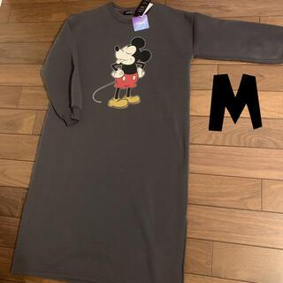 ディズニー(Disney)の新品 ミッキー 裏起毛ワンピース M(ロングワンピース/マキシワンピース)