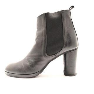 ツモリチサト(TSUMORI CHISATO)のツモリチサト ショートブーツ 24美品  - 黒(ブーツ)