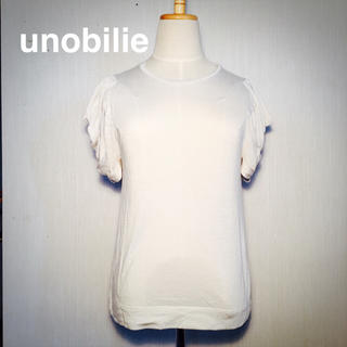 ウノビリエ(unobilie)のunobilie♦︎ウノビリエ♦︎フェミニンなスリーブのカットソー(カットソー(半袖/袖なし))
