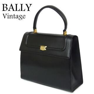 バリー(Bally)のバリー BALLY ヴィンテージ レザー ハンド バッグ イタリア製 ブラック(ハンドバッグ)