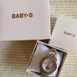 ベビージー(Baby-G)の【保証書付】BABY-G G-MS ジーミズ シルバー×ピンク(腕時計)