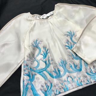 アリスマッコール(alice McCALL)の【アリスマッコール】Jellyfish  トップス ホワイト 個性派デザイン(カットソー(長袖/七分))