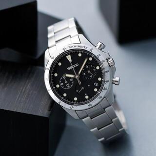セイコー(SEIKO)のSZSJ007 セイコー ナノ・ユニバース クオーツクロノグラフブラック (腕時計(アナログ))
