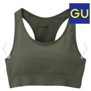 ジーユー(GU)のGU サイドシームレススポーツブラGA Mサイズ(トレーニング用品)