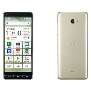 キョウセラ(京セラ)の新品 SIMフリー BASIO4 シャンパンゴールド(スマートフォン本体)