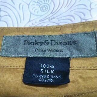 ピンキーアンドダイアン(Pinky&Dianne)の♥✿大特価✿♥【PINKY&DIANE】シルク100%♡ゴールド♡Mサイズ(シャツ/ブラウス(長袖/七分))