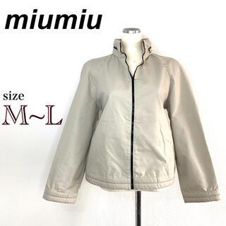 ミュウミュウ(miumiu)の【miumiu】ミュウミュウ 春用ジャケット アイボリー アースカラー M〜L(その他)