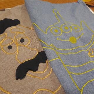 ディズニー(Disney)のクッションカバー2枚セット 刺繍 トイストーリー(クッションカバー)
