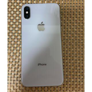 アイフォーン(iPhone)のiPhone X Silver 64Gb Simフリーバッテリー100%(携帯電話本体)