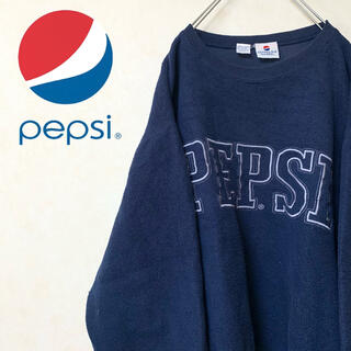 PEPSI ペプシ 90年代 USA古着 スウェット トレーナー ビッグロゴ(スウェット)