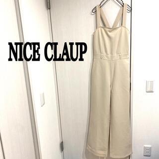 ナイスクラップ(NICE CLAUP)のNICE CLAUP 美品 サロペット オールインワン ワイドパンツ(サロペット/オーバーオール)