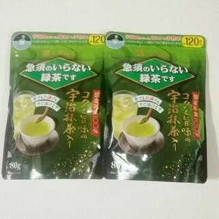 三井銘茶 コクと旨味の宇治抹茶入り 80g  2袋(茶)