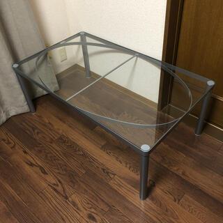 イケア(IKEA)のIKEA イケア ガラス テーブル(ローテーブル)
