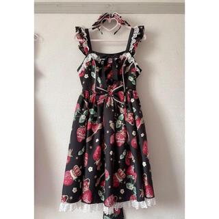 アンジェリックプリティー(Angelic Pretty)のRoyal crown berry ジャンパースカート セット(ひざ丈ワンピース)