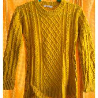 ライトオン(Right-on)の黄色のセーター(ニット/セーター)