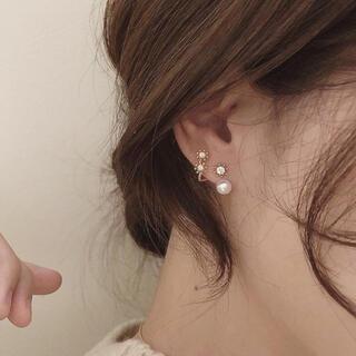 ドゥーズィエムクラス(DEUXIEME CLASSE)のstar & pearl design pierce ◯s925 post(ピアス)