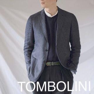 ロロピアーナ(LORO PIANA)の美品TOMBOLINI×Loropiana インディゴリネン ジャケット50(テーラードジャケット)
