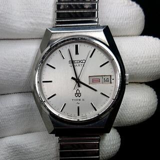 セイコー(SEIKO)のSEIKO TYPE2 メンズ 文字盤ホワイトシルバー(腕時計(アナログ))