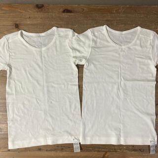 ムジルシリョウヒン(MUJI (無印良品))の無印MUJI肌着Tシャツキッズ140×2枚(下着)