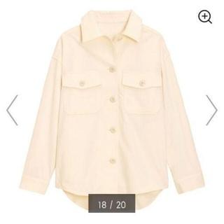 ジーユー(GU)のジャケットホワイト(ノーカラージャケット)