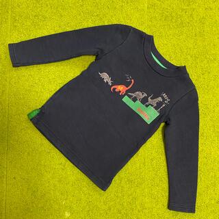 ハッカキッズ(hakka kids)のハッカ☆キッズ 恐竜柄トレーナー(110)(Tシャツ/カットソー)