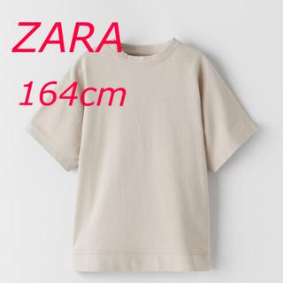 ザラ(ZARA)の新品 ZARA プレーンプラッシュTシャツ 164cm(Tシャツ(半袖/袖なし))