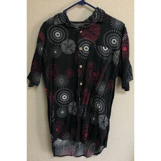 シマムラ(しまむら)の値下げ 新品 未着用 メンズ アロハシャツ 花火柄 黒 1着(シャツ)