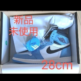 ナイキ(NIKE)のAIR JORDAN 1 HIGH OG UNIVERSITY BLUE 28㎝(スニーカー)