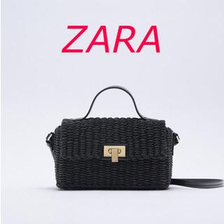 ザラ(ZARA)の新品 ZARA ウーブンボックスクロスボディバック(かごバッグ/ストローバッグ)
