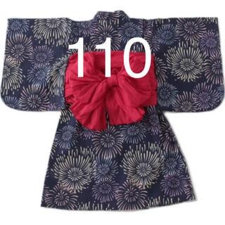 プティマイン(petit main)のプティマイン 花火柄浴衣 110(甚平/浴衣)