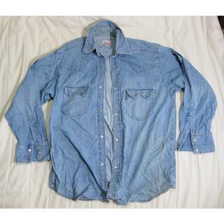 ブルーウェイ(BLUE WAY)の★美品★ 上質・日本製 ブルーウェイ ビンテージ デザイン デニムシャツ LL(シャツ)