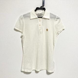 モンクレール(MONCLER)のモンクレール 半袖ポロシャツ サイズS - 白(ポロシャツ)