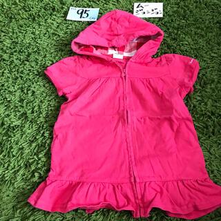 ムージョンジョン(mou jon jon)の95 ピンク 半袖パーカー(ジャケット/上着)