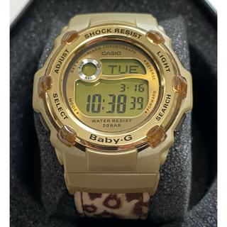 ベビージー(Baby-G)のbaby-G-SHOCK/BG-3000V/レオパード/ヒョウ柄/ゴールド/絶版(腕時計)