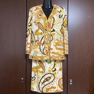 レオナール(LEONARD)の【美品】LEONARD スカートセットアップ 9AR(スーツ)