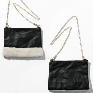 グレースコンチネンタル(GRACE CONTINENTAL)の新品 定価12,980円 メイソングレイ   ブラック クラッチバッグ (クラッチバッグ)