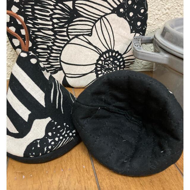 STAUB(ストウブ)のストウブ 20センチ鍋敷 鍋つかみ 三角鍋つかみ 北欧  ハンドメイドの生活雑貨(キッチン小物)の商品写真
